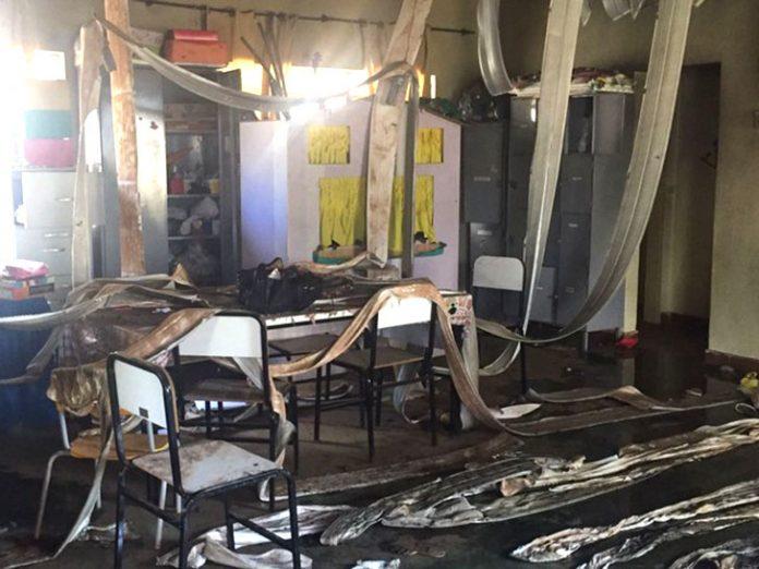 Interior da creche de Janaúba que foi incendiada (Foto: Natalia Jael)