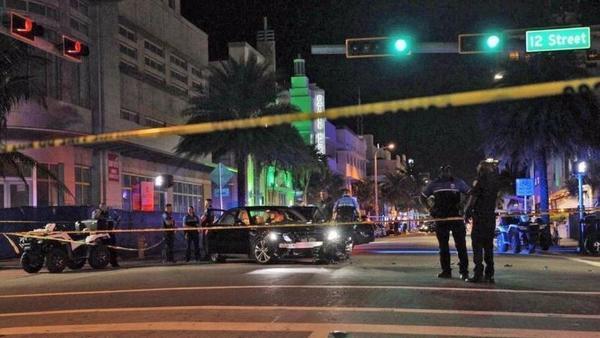 Local onde aconteceu o incidente em Miami Beach