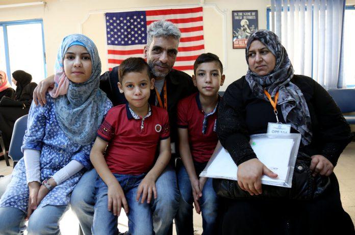 Refugiados sírios que chegaram aos EUA em 2016