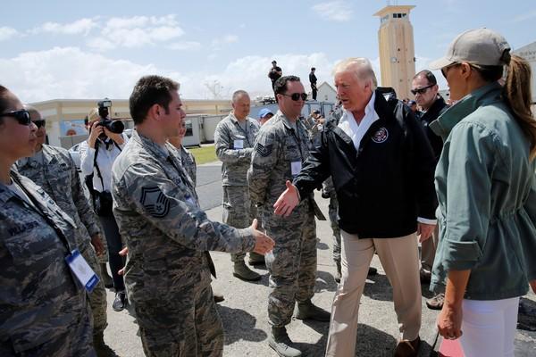 Trump vistiou Porto Rico na terça-feira 3
