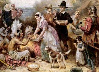 O primeiro Thanksgiving foi celebrado em 1621 em Plymouth, Massachusetts