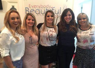 Patricia Santana, Jane Sampaio, Rafaela Vieira, Helen Louzada e Alexandra Geraldelo