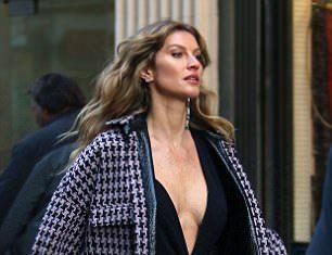 Gisele Bundchen em dia de ensaio em NY