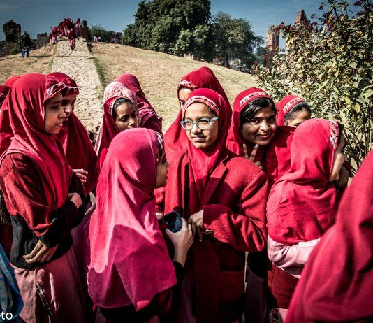 Estudantes muçulmanas na Índia