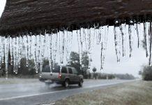 Flórida viu neve no dia 3 de janeiro e pode ver novamente (Bob Self/The Florida Times-Union via AP)