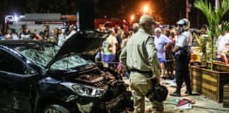 Motorista invadiu calçadão e atropelou pelo menos 15 pessoas na Praia de Copacabana, no Rio Foto Ian Cheibub -AGIF - Estadão Conteúdo
