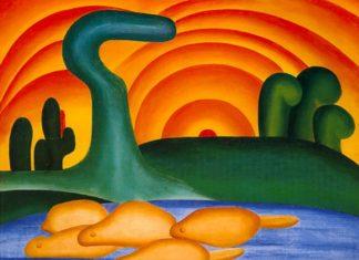 Sol Poente, de Tarsila do Amaral (Foto Reprodução)