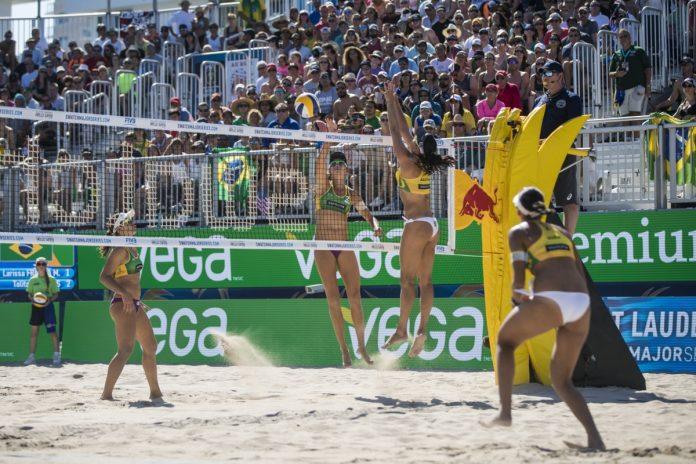 Brasileiros fizeram bonito no torneio de 2017 FOTO US Beach Major Series