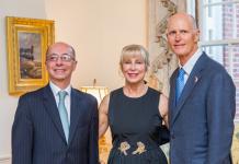 Embaixador Adalnio Senna Ganem, Ann Scott e Rick Scott
