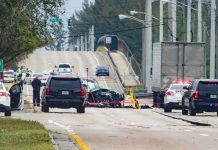 Três pessoas morreram depois de serem atingidas por tiros FOTO Palm Beach Post
