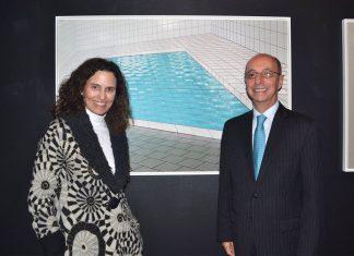 A artista Maritza Caneca e o Embaixador Adalnio Senna Ganem
