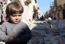 Aleppo na Síria está completamente destruída pela guerra