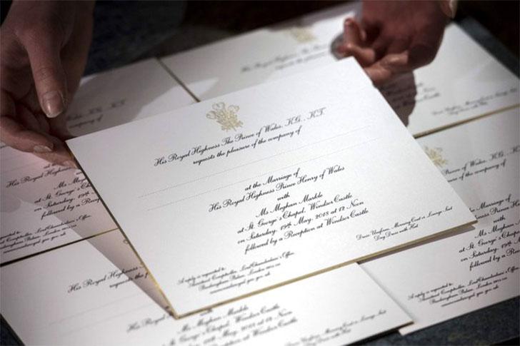 Palácio divulga convite de casamento de Harry e Meghan Markle
