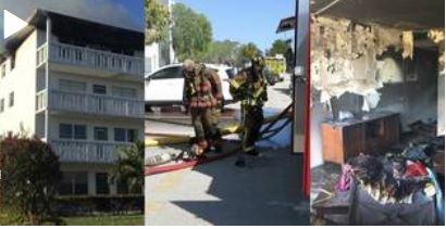 Fogo destruiu apartamento no 4 andar