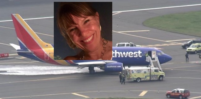 Jennifer morreu no incidente como avião da Southwest FOTO Reprodução