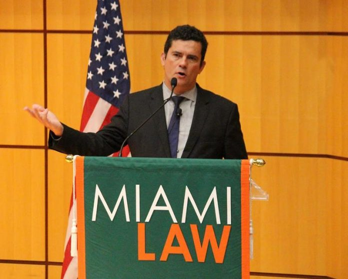 Juiz Sérgio Moro em palestra na escola de Direito em Miami FOTO Catharine Skipp University of MIami Law School