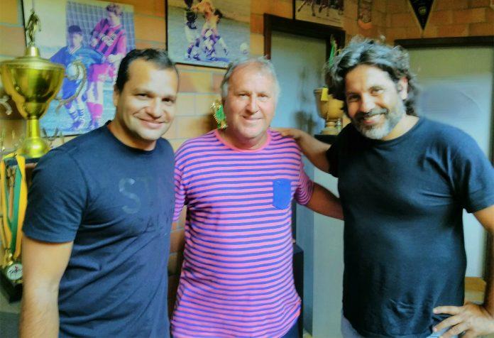 Rodrigo Dias, Zico e o diretor Pedro Vasconcelos