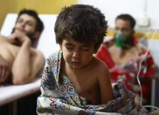 Presidente da Siria Bashar al-Assad é acusado de usar armas químicas contra civis em Douma, na Siria