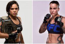A campeã peso-galo, Amanda Nunes, e a desafiante Raquel Pennington