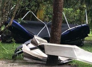 Chuva causou alguns estragos em Palm Beach