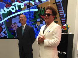 Embaixador Adalnio e o artista Romero Britto
