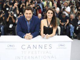 Javier Bardem e Penélope Cruz na coletiva em Cannes (Foto: AFP)