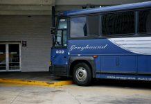 Ônibus da Greyhound Lines estão presentes na maioria das cidades americanas