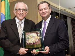Cassio Segura, Presidente 2018 da BACCF e Jose Efromovich, Presidente do Conselho Avianca Brasil