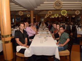Almoço a bordo do navio Grand Classica para a mídia