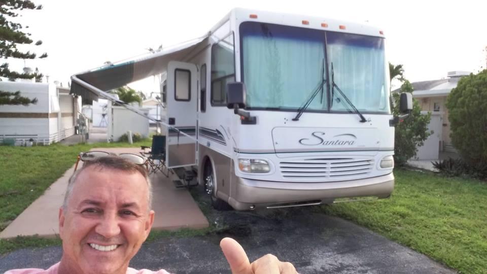 Floriano Lopes comprou um motorhome para viajar pelos EUA