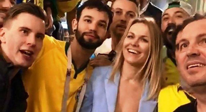 Torcedores brasileiros humilham jovem russa