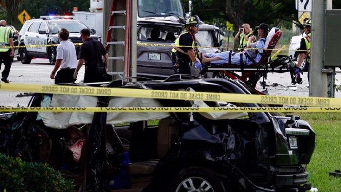 Acidente deixa 7 feridos em Boca Raton (PHOTO SunSentinel)