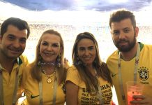 Betinho ,Marta ,Felicia e Carlos Ramos na Rostov Arena