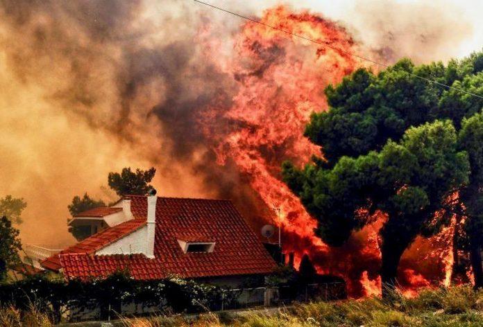 Incêndio devasta a Grécia (Foto: Getty Images)