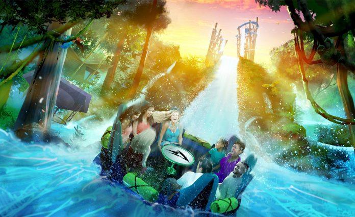 Nova atração Infinity Falls do SeaWorld Orlando terá a mais alta queda do mundo (Foto: SeaWorld)