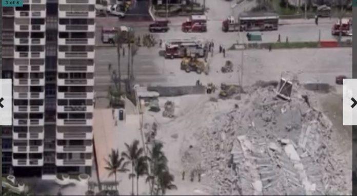 Prédio despencou em Miami Beach