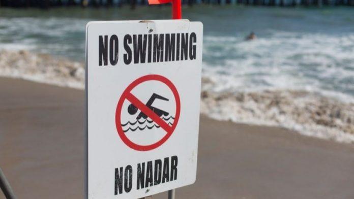 Praias foram interditadas para o banho