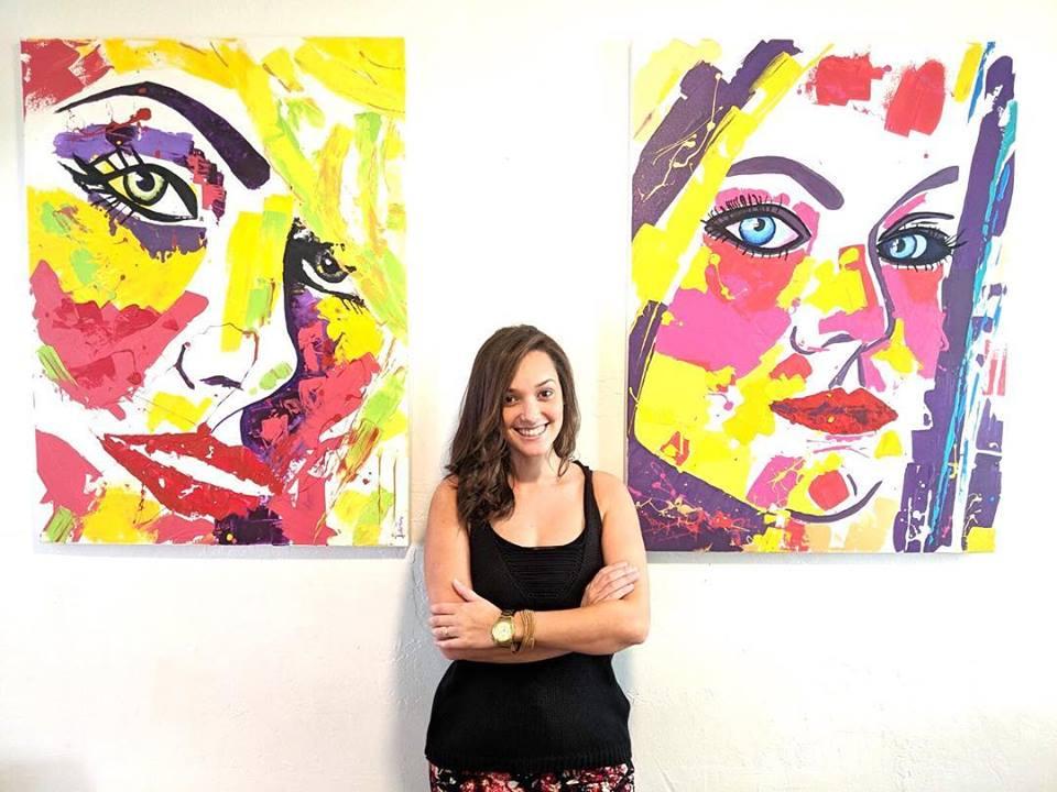 Suelen Peron mora em Miami e tem se destacado na arte de retratar rostos