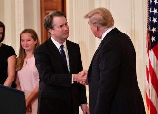 Trump anunciou nome de Brett Kavanaugh para a vaga na Suprema Corte FOTO AFP SAUL LOEB
