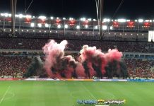 Explosão rubro-negra no Maracanã antes do clássico Flamengo e Grêmio