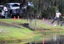 Mulher foi arrastada para o lago e morreu FOTO Drew Martin AP
