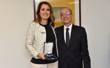 Viviane Spinelli foi uma das condecoradas com a Ordem de Rio Branco (Foto: Bill Paparazzi)