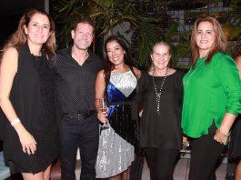 Viviane Spinelli, os anfitriões Heitor e Liliana Gonçalves, Cecilia Baggio e Claudia Dutra