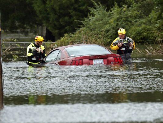 Florence causou enchentes sem precedentes na Carolina do Norte FOTO AP