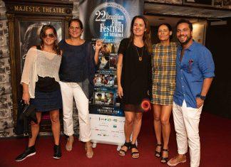 Flávia Guimarães, Adriana Dutra, Viviane Spinelli, Neuza Farache e Rafael Gnone, diretores e produtores do BRAFF Miami