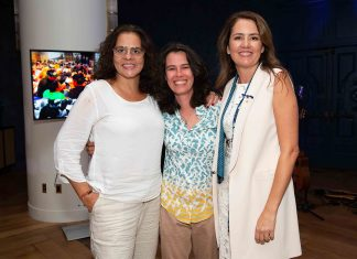 Adriana Dutra, Fabiana Cunha e Viviane Spinelli