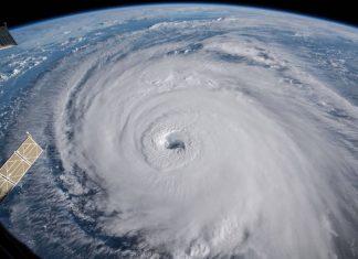 Imagem do furacão Florence registrada ontem pela Nasa (Foto Nasa Via Reuters))