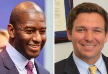 Andrew Gillum e Ron DeSantis disputam uma vaga de governador na FL