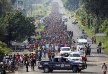 Milhares de imigrantes seguem em marcha rumo à fronteira Foto Ueslei Marcelino - Reuters