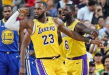 Em jogo entre Los Angeles Lakers e Golden State Warriors, LeBron James deu um show com 15 pontos, 10 rebounds e 5 assistências em apensa 18 minutos de jogo